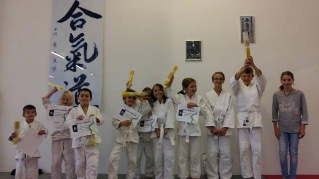 Kinderaikido Murten - die ersten Aikido-Gelbgurte