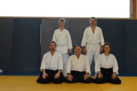 Aikido Lyss Gruppenbild dole 2013 mit Sensei Gérard Blaize